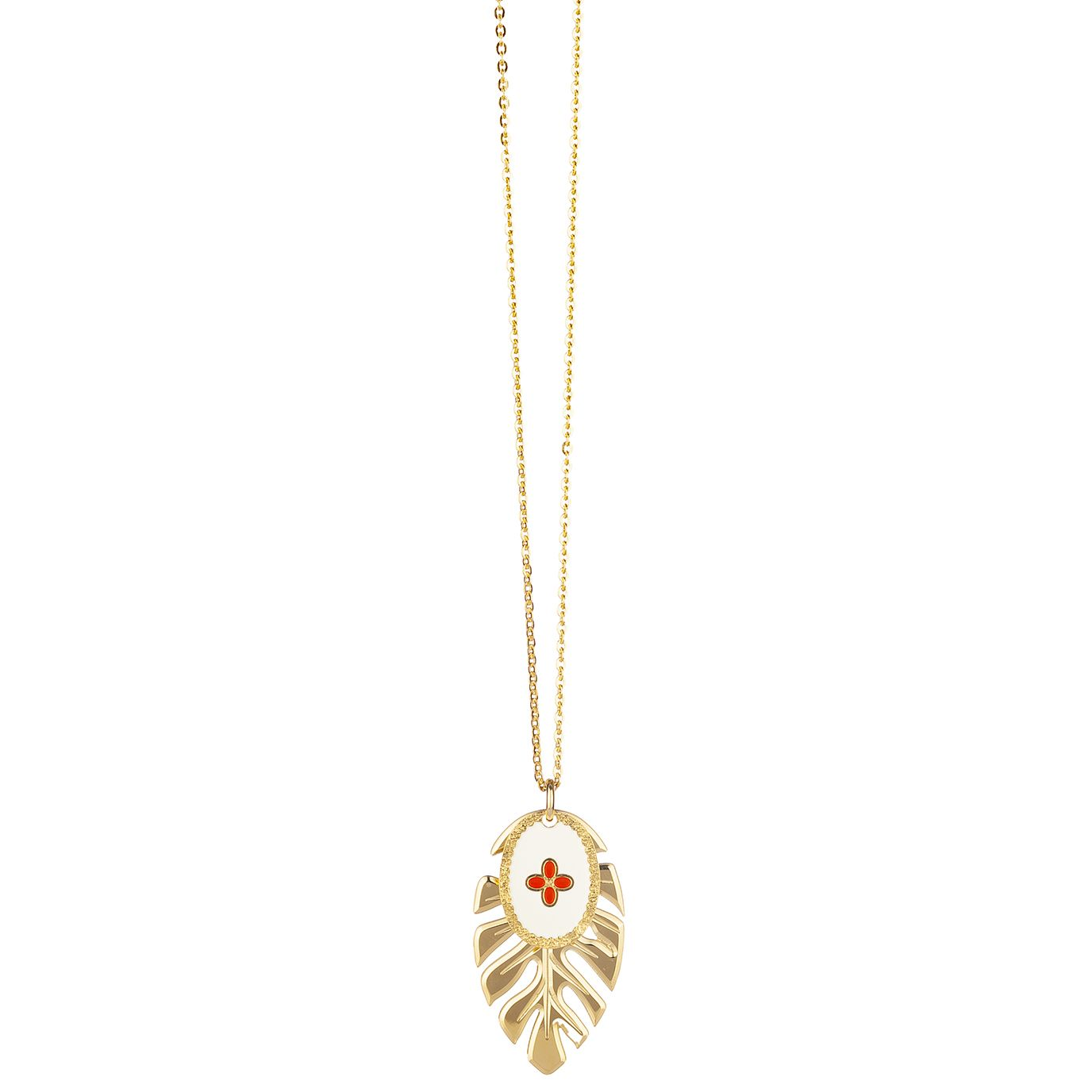 "Halskette ""Collier feuille or le coeur"""