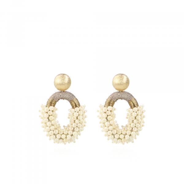 """Ohrstecker """"Eve gold Glassberry silk combi"""" - Perlen"""