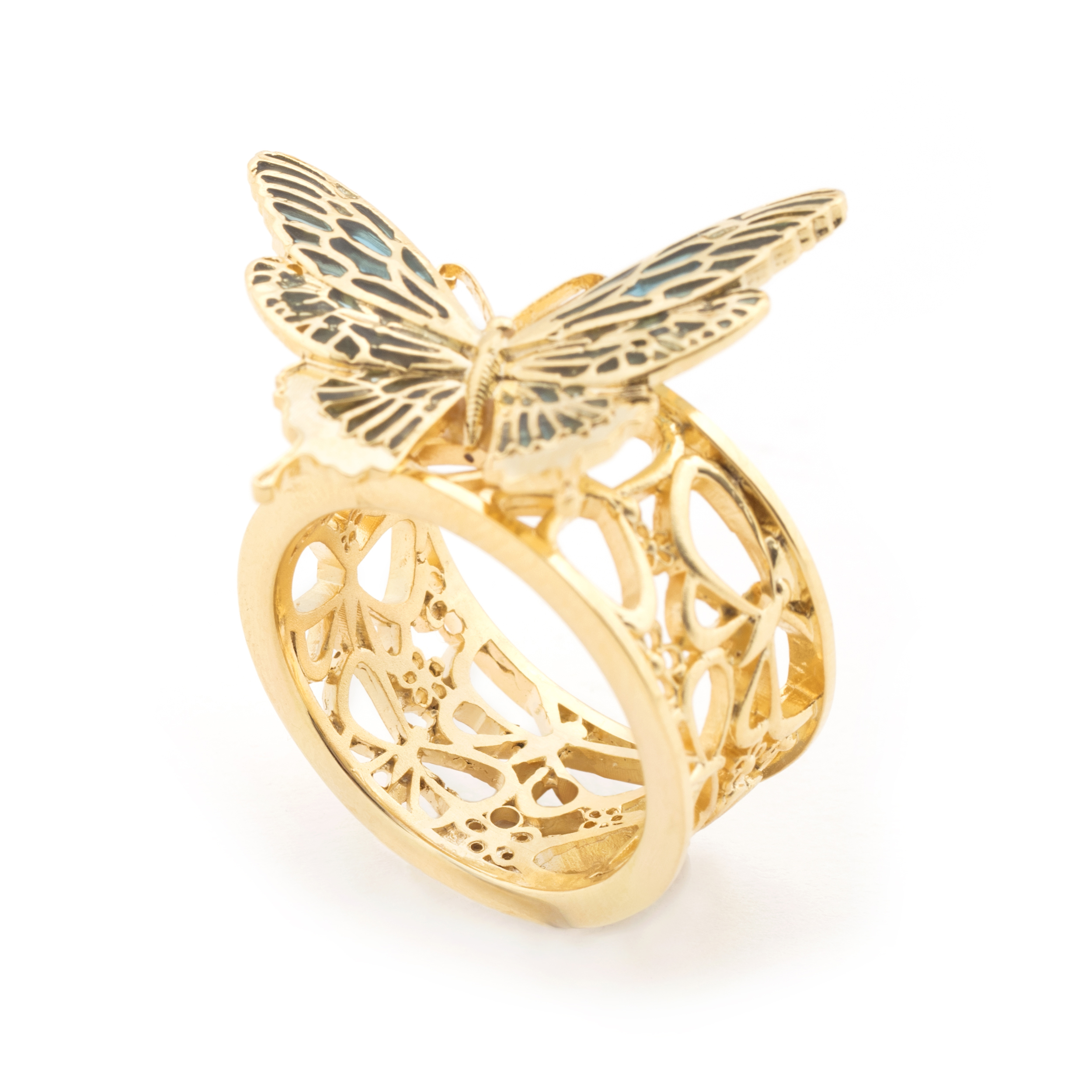 "Ring ""Butterfly Statement Gold"""
