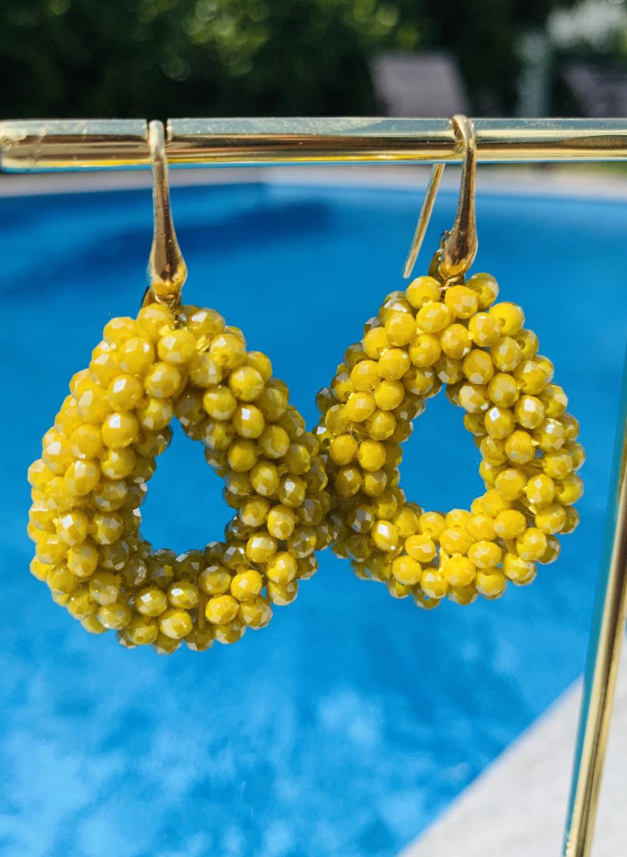 "Ohrhänger ""Glassberry Drop S"" - Lemon"