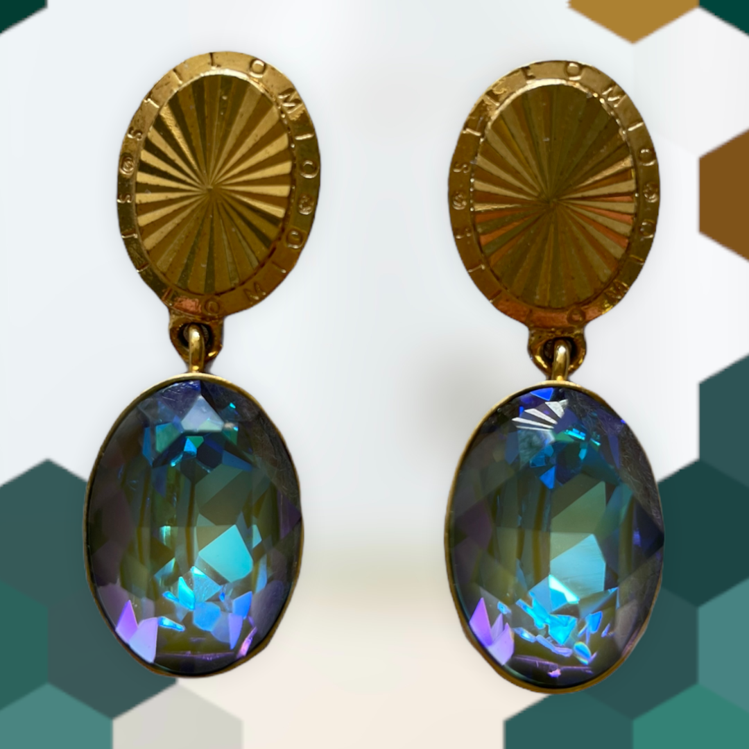 """Ohrstecker """"Eden"""" - gold/blau Swarovski Kristall"""