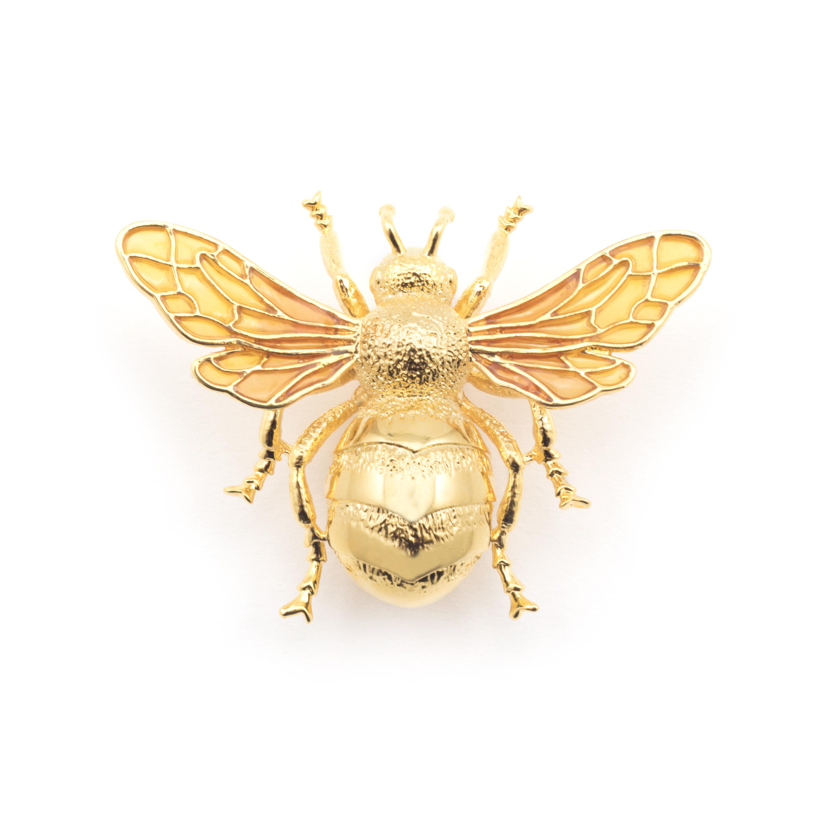 """Brosche """"Bigger Bee"""" - gold"""