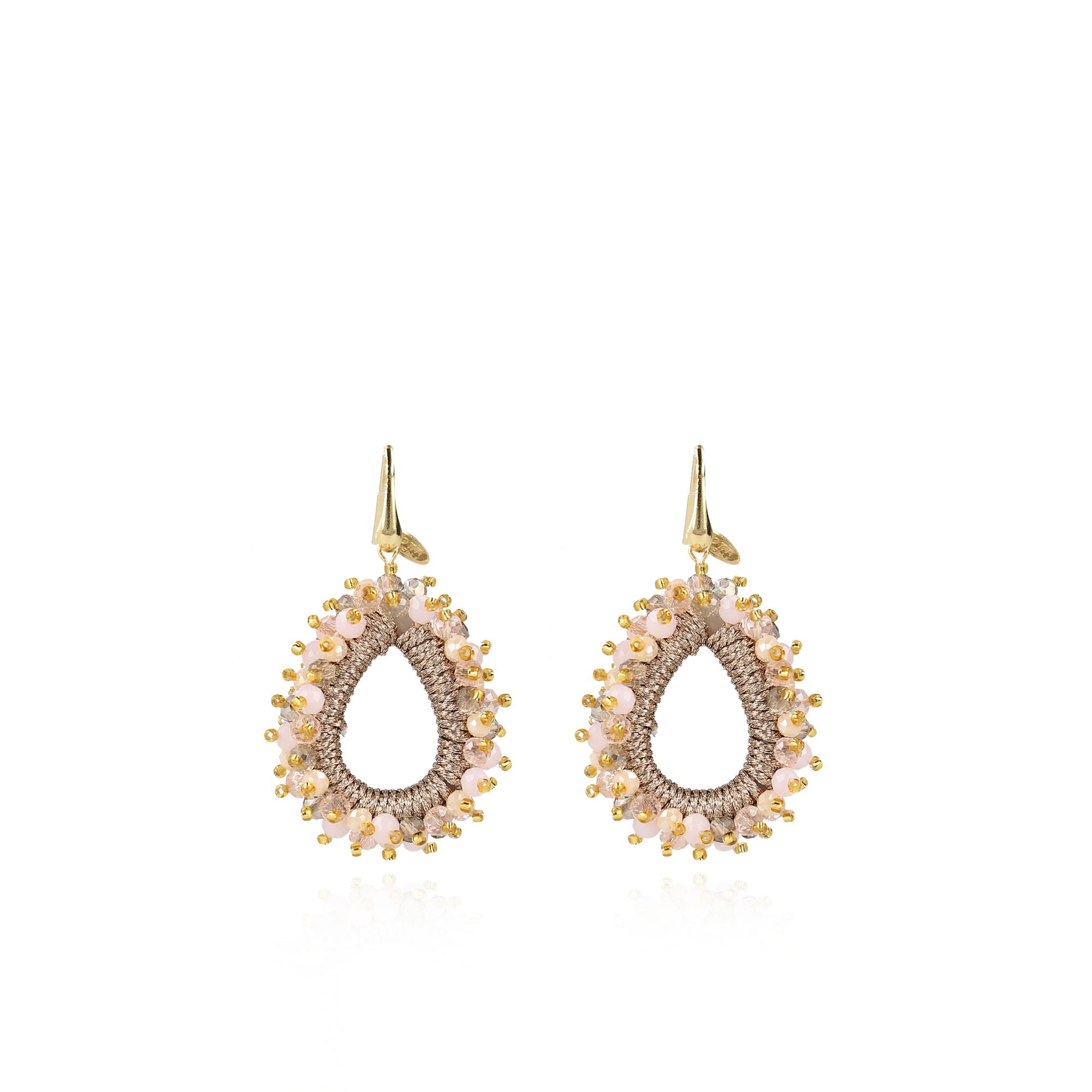 "Ohrhänger ""Glass Silk Urchin Drop"" - Champagne"
