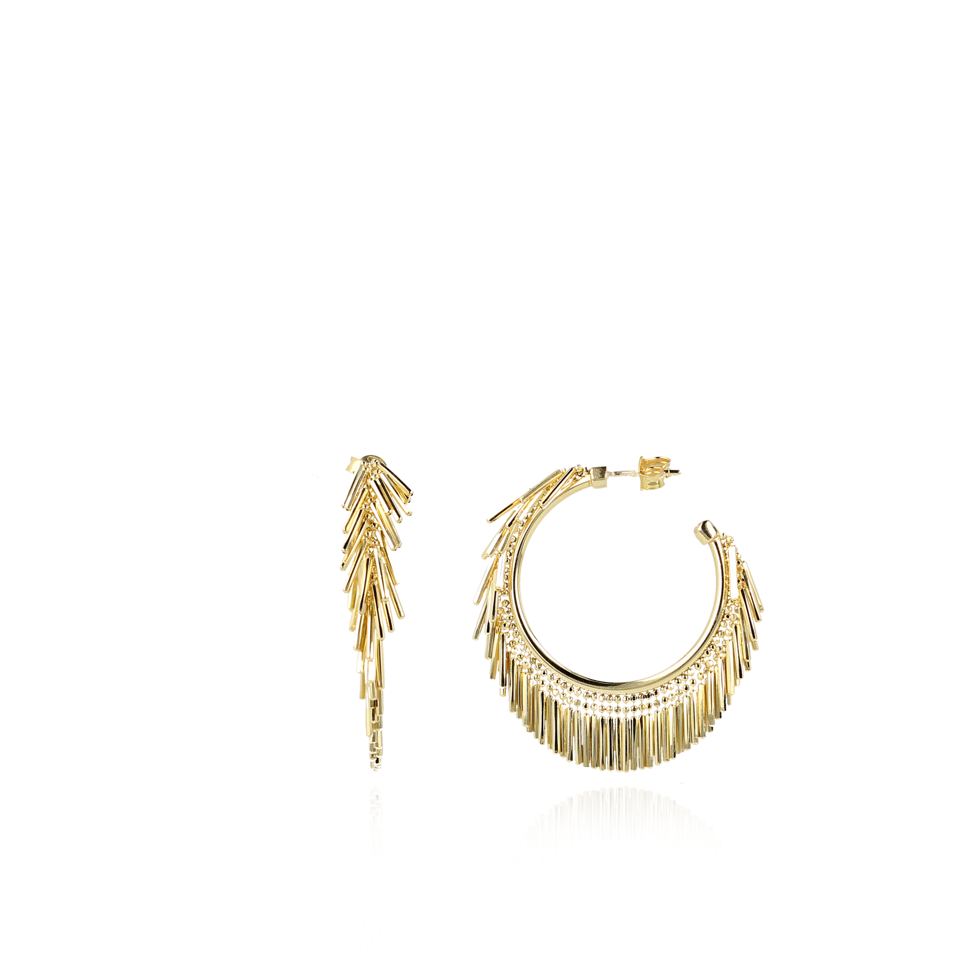 """Ohrstecker """"Creole Round Vibes"""" - gold"""